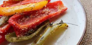 Parmesan Peppers. Low carb and weight loss surgery friendly!