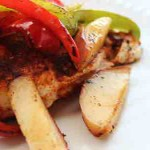 Pepper & Peach Chicken Fajitas. Low carb and weight loss surgery friendly!