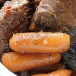 Simple Roast and Carrots in the Crockpot®, Low carb and weight loss surgery friendly!