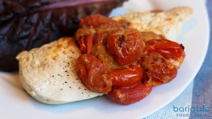 tomato basil queso chicken on bariatric food coach