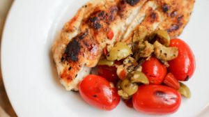 Warm Tomato Relish with Chicken Breast | Bariatric Surgery Recipes | FoodCoach.Me