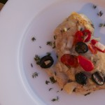 Roasted Chicken Thighs with Tomatoes, Olives & Feta - Weight Loss Surgery Recipes