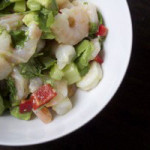 Shrimp Cecviche. Fast & Easy Low Carb Lunch!