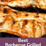 Pinterest Image best barbecue grilled chicken