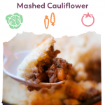 Pin image for bariatric friendly Shepherds Pie with Mashed Cauliflower