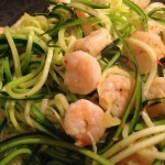 Shrimp Scampi with Zucchini Noodles. Low carb and bariatric weight loss surgery recipes at www.foodcoach.me