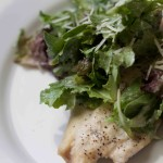 Baked Chicken with Caesar Slaw. Bariatric friendly recipes at www.foodcoach.me