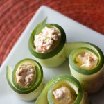 Cucumber Feta Rolls. Low carb snacks great for weight loss surgery patients.