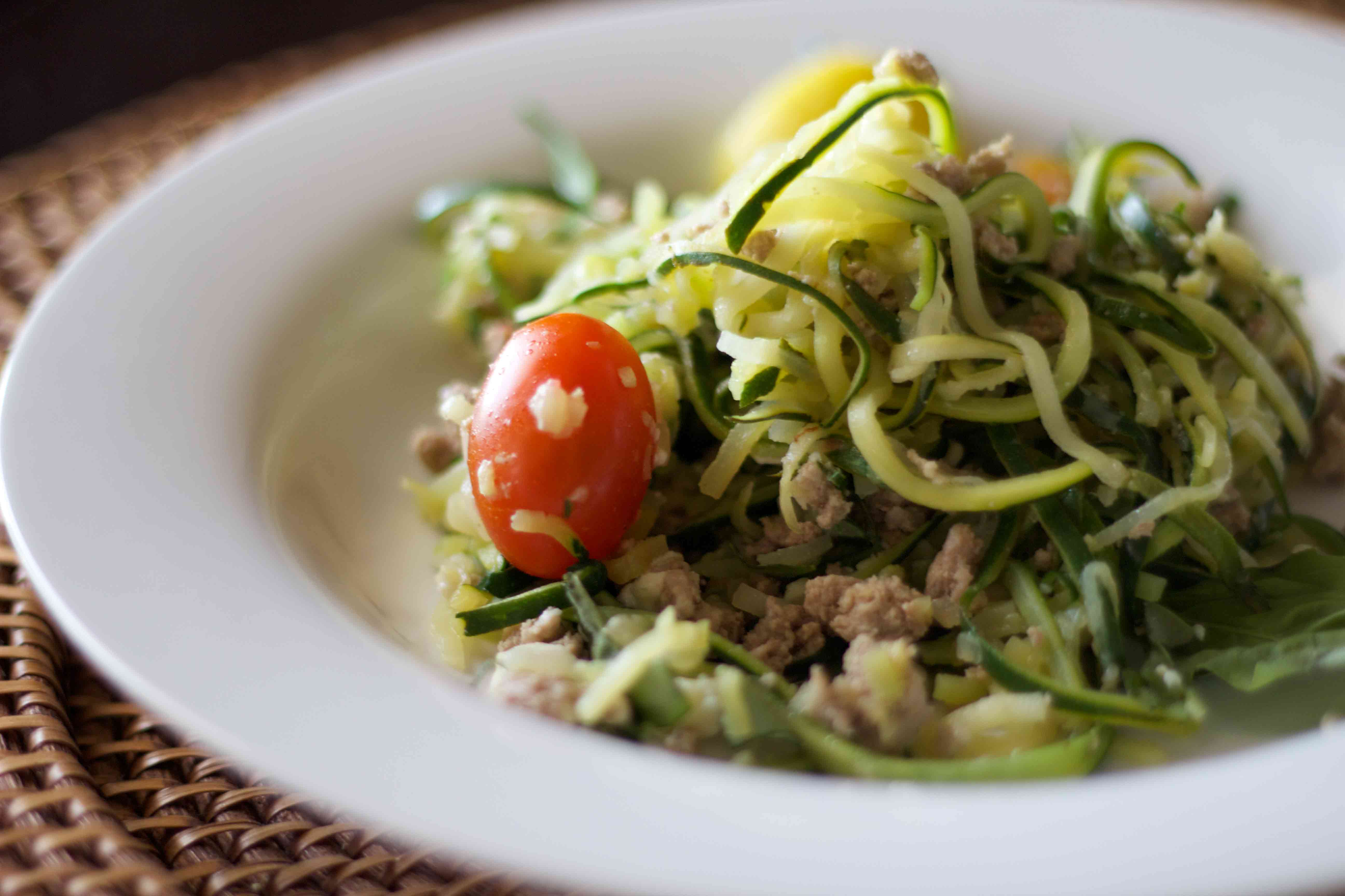 lemon zucchini pasta. low carb and bariatric friendly!
