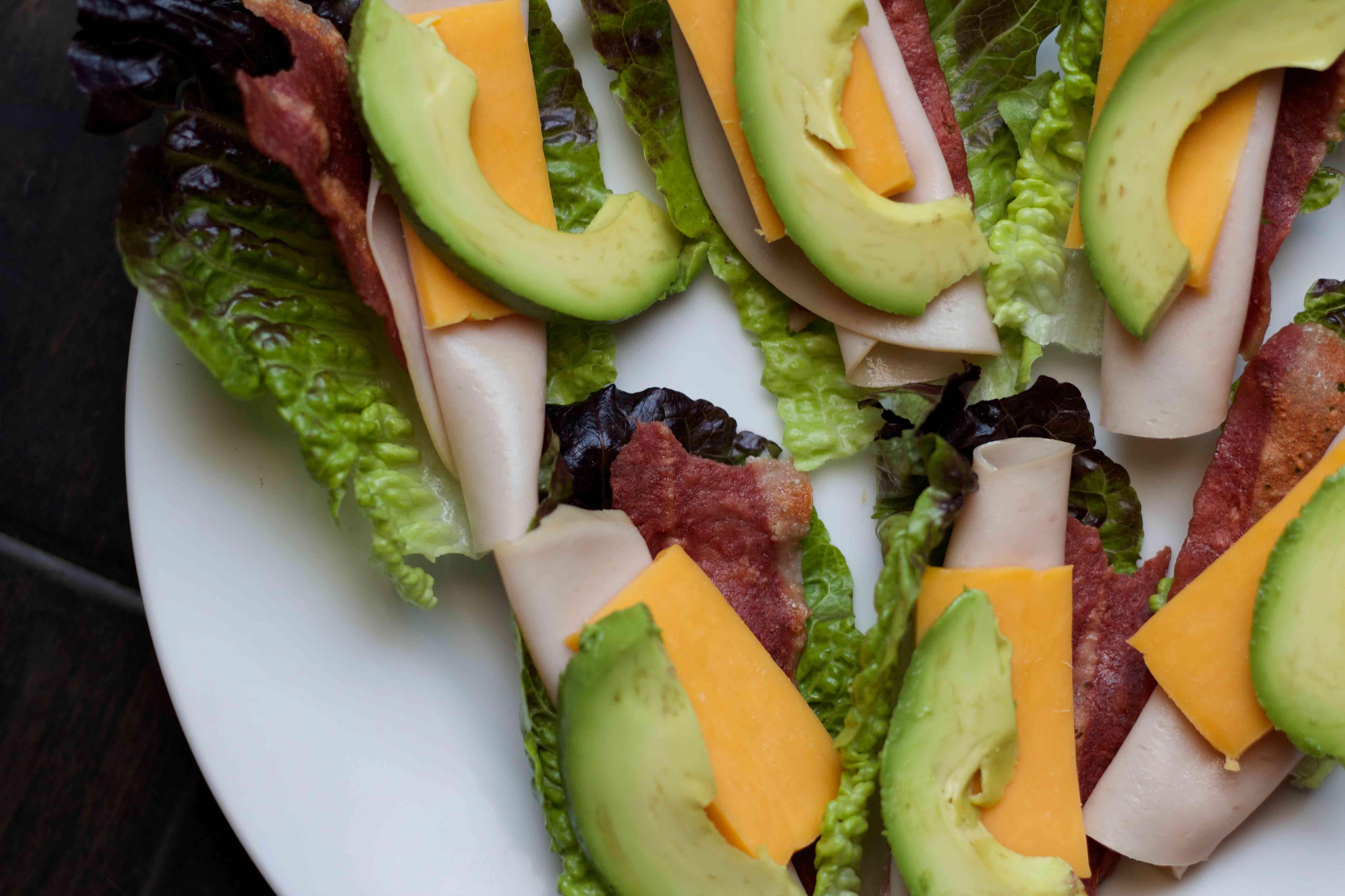 classic cobb lettuce wraps