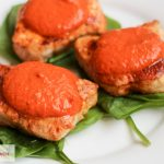 Pork Medallions with Roasted Red Pepper Sauce | Bariatric Surgery Recipes | FoodCoach.Me