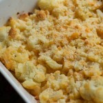 WLS Recipes - Cauliflower & Cheese Bake. Great low carb replacement for Mac & Cheese. #wls #vsg #rny #sleeve #bypass