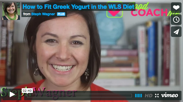 How to Use Greek Yogurt in the Postop WLS Diet. Steph Wagner on www.foodcoach.me