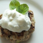 Low Carb Turkey Burger with Feta & Mint Yogurt Sauce. Delicious and approved for bariatric surgery patients!