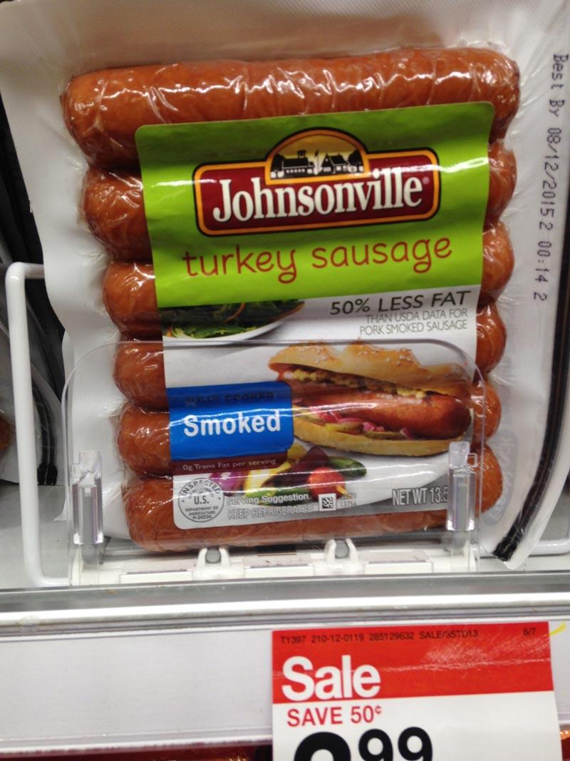 Pre-Cooked Turkey Sausage at Target