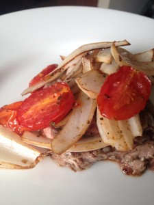 Flank Steak with Tomatoes and Onions - Bariatric Friendly Recipe