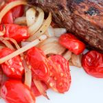 Flank Steak with Roasted Tomatoes and Onions | Gastric Sleeve Recipes | FoodCoach.Me