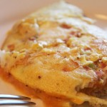 Cheesy Ham Omelette - WLS Recipe from www.foodcoach.me