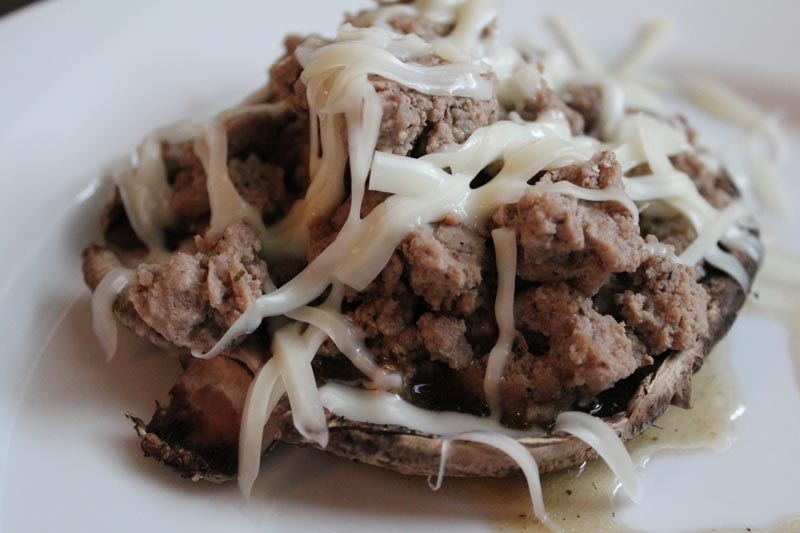 Turkey Stuffed Mushrooms - low carb and weight loss surgery approved! www.foodcoach.me