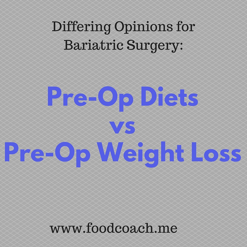 Bariatric Surgery Pre-Op Diet