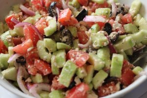 Cucumber Greek Salad | WLS Recipes | FoodCoach.Me