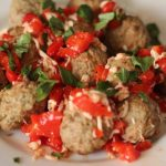 Red Pepper Bruschetta Meatballs - WLS Recipes