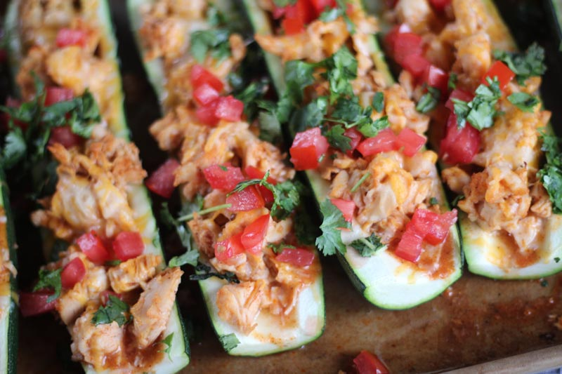 Chicken Enchilada Zucchini Boat - Weight Loss Surgery (WLS) Recipes