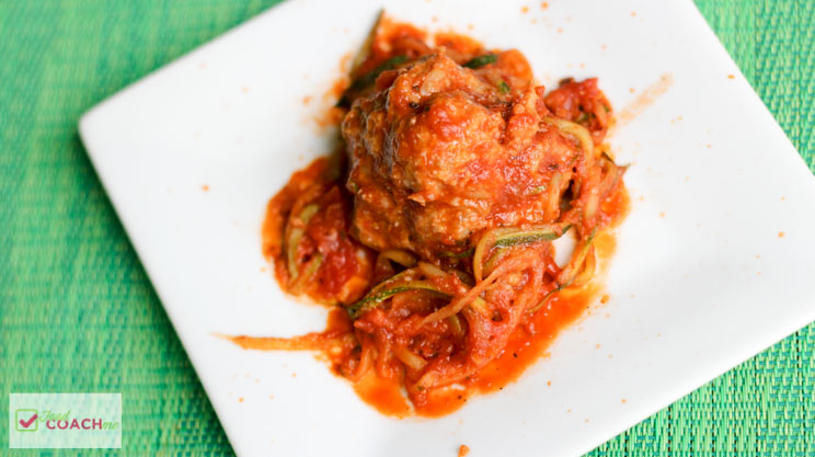 Chicken sausage meatballs, weight loss surgery friendly recipe on foodcoach.me