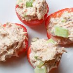 Tuna Salad Stuffed Tomatoes | WLS Lunches | FoodCoach.Me