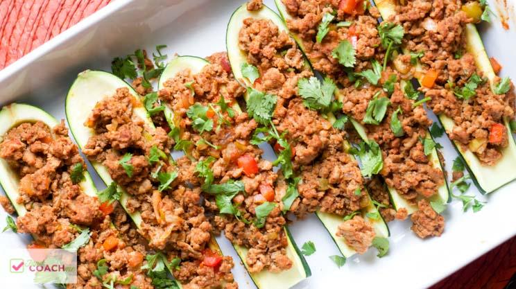 Turkey Taco Zucchini Boats | WLS Recipes | FoodCoach.Me