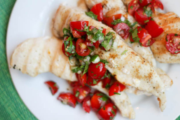 Chicken Cilantro Lime Tomato Relish | www.foodcoach.me | Bariatric Recipes