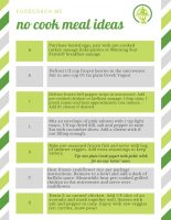 No Cook Meal Ideas | WLS Nutrition | FoodCoach.Me