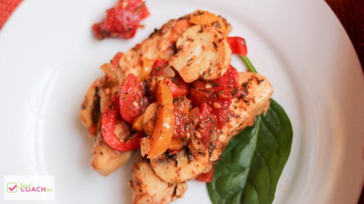 Chunky Garden Italian Chicken | Weight Loss Surgery Recipes | FoodCoach.Me