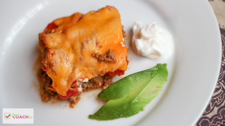 Low Carb Taco Casserole | WLS Recipes | FoodCoach.Me