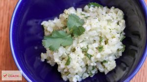 The flavors of cilantro lime rice with CAULIFLOWER instead of high carb rice! This recipe is the perfect alternative for post weight loss surgery patients! Make your favorite Mexican dishes WLS friendly! #wlsrecipes #gastricsleeve #gastricbypass #cauliflowerrice