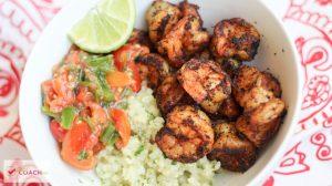 Spicy Shrimp Burrito Bowl | Gastric Sleeve Recipes | FoodCoach.Me
