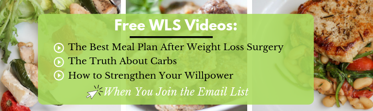 Free weight loss surgery teaching videos from bariatric dietitian. Best meal plan after surgery, the truth about carbs and how to strengthen your willpower