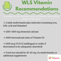 WLS Vitamin Recommendations | What Vitamins Should I Take Gastric Sleeve Gastric Bypass | FoodCoach.Me