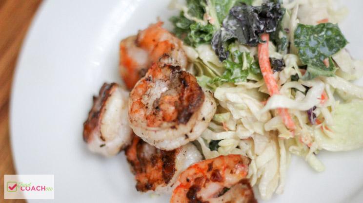 Kale Shrimp Caesar Salad