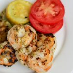 This Pesto Shrimp and Squash is not only super fast and easy to make it's also FULL of flavor and protein! An estimated 29 grams of protein per serving and very little fat or carbohydrates! Perfect for post bariatric surgery patients. #wls #wlsrecipes #gastricsleeve #gastricbypass #bariatricrecipes