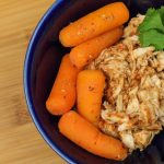 Easy Instant Pot barbecue chicken and carrots. This is a great recipe for weight loss surgery patients! Make dinner from frozen chicken and have leftovers for lunches. Great way to get in protein! #wlsrecipes #gastricsleeveinstantpot #gastricbypassinstantpot #pressurecooker
