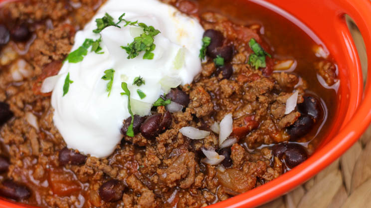 Instant Pot chili recipe high in protein and great for post bariatric surgery patients! Fast, easy and yummy plus extras for leftovers and lunches. #gastricsleeveinstantpot #gastricbypassinstantpot #foodcoachme