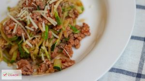 This is a super easy Instant Pot Recipe for high protein, low carb and WLS friendly Turkey Spaghetti with Zucchini Noodles! I even used frozen Ground Turkey to make this dinner quickly! #wlsrecipes #instantpot #wlsinstantpot #bariatricinstantpot #sleeve #bypass