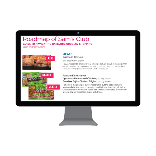 roadmap of sams club guide to navigating bariatric grocery shopping