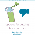 Pin Image for blog post No Protein Shake Reset Diet on bariatric food coach dot com