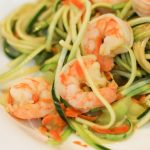 Asian shrimp zucchini pasta for weight loss surgery patients
