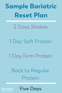 Bariatric Surgery Reset Diet Plan Sample Day