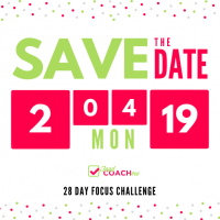 Save the Date, February 2019 28 Day Focus Challenge for Bariatric Surgery Patients on FoodCoach.Me