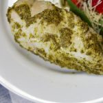 You will love this basic and easy Instant Pot Recipe for pesto chicken! A high protein, bariatric surgery friendly recipe ready in minutes and super moist to keep you comfortable. I love the fresh Pesto from Costco! #bariatricsurgery #instantpot #bariatricinstantpot #weightlosssurgery #gastricsleeverecipes #gastricbypassrecipes