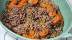 Instant Pot Classic Beef Roast without the potatoes to keep this recipe easy AND bariatric friendly! Gastric sleeve or bypass patients - you will fill up and be full for a long time on a small portion of this pressure cooker version of a classic! #weightlosssurgeryrecipes #instantpotrecipes